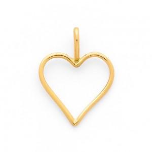 Pendentif cœur fil Or jaune-1
