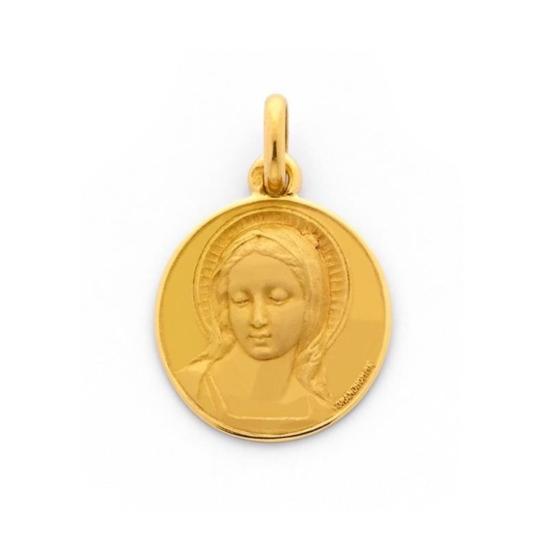 Médaille Becker Vierge 18mm Amabilis Or jaune