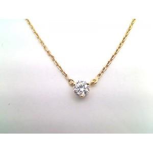 Pendentif Diamant 0,15 Carat G SI 3 griffes Or jaune