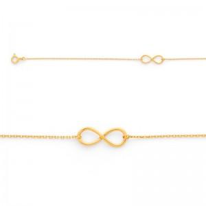 Bracelet avec motif Infini Or jaune