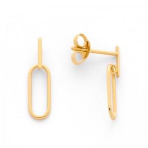 """Boucles d'oreilles motifs """"Oval"""" Or jaune"""
