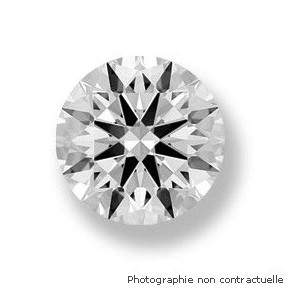Diamant taille brillant rond 0,31 Carat F SI1 2 x Excellent
