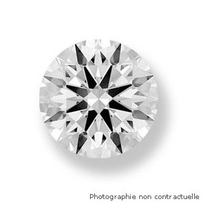 Diamant taille brillant rond 0,45 Carat G SI1