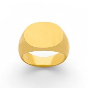 Chevalière Homme ovale massive Or jaune-4