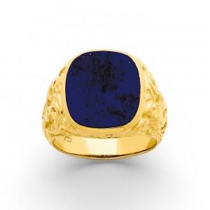 Chevalière Homme Lapis Lazuli Or jaune