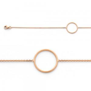 Bracelet avec motif Cercle 16mm Or rose