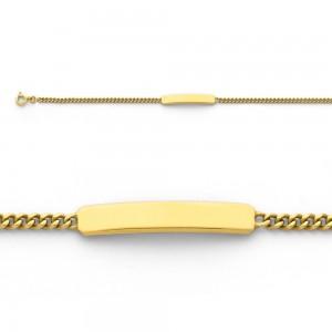 Bracelet identité bébé classic gourmette GL60 Or jaune