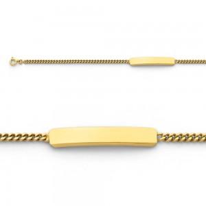 Bracelet identité bébé classic gourmette GL55 Or jaune
