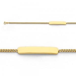 Bracelet identité bébé classic gourmette GL50 Or jaune