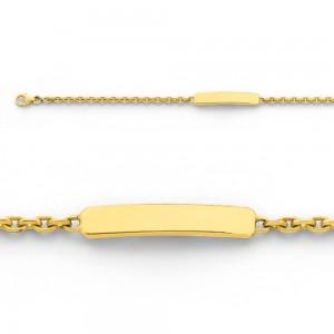 Bracelet identité bébé classic forçat FL70 Or jaune