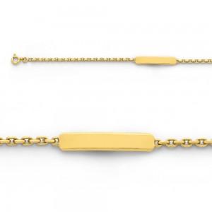 Bracelet identité bébé classic forçat FL60 Or jaune