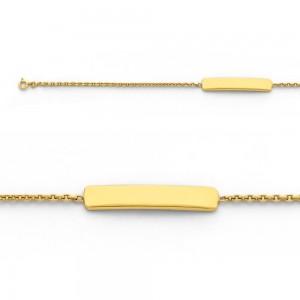 Bracelet identité bébé classic forçat FL40 Or jaune