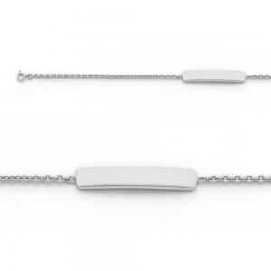 Bracelet identité bébé classic forçat FL40 Or blanc