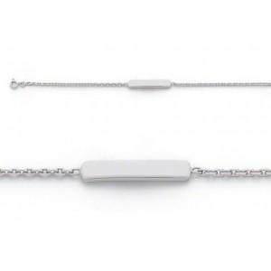 Bracelet identité bébé classic forçat FL50 Or blanc