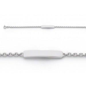 Bracelet identité bébé classic forçat FL55 Or blanc