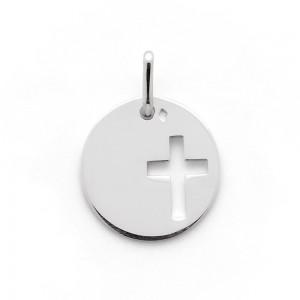 Médaille Ronde croix ajourée 16mm Argent
