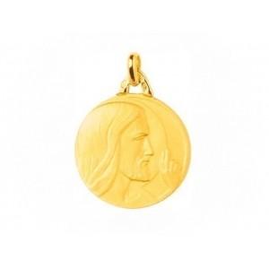Médaille Christ bénissant 18mm Or Jaune 9 carats