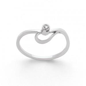 Solitaire Diamant 0,03 Carat G VS Or blanc-4