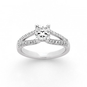 Solitaire Diamant taille Lucére® 0,91 Carat I SI1 accompagné Or blanc