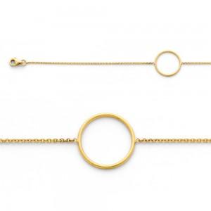 Bracelet avec motif Cercle 16mm Or jaune
