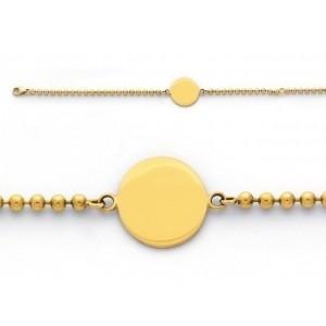 Bracelet identite bébé mailles boule Or jaune