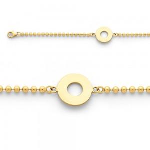 Bracelet identité bébé Maille Boule Or jaune