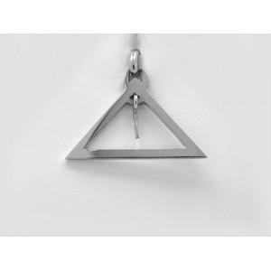 Pendentif symbolique Triangle avec niveau Or blanc