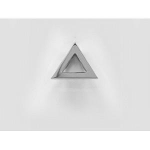 Pendentif symbolique Triangle 2 brides Or blanc