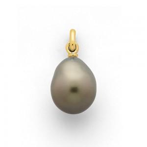Pendentif Perle de Tahiti poire 9,5mm Or jaune