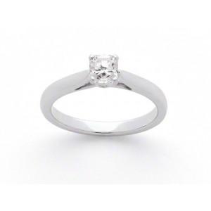 Solitaire diamant taille Lucére© 0,56 Carat E VS1 4 griffes platine