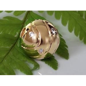 Fermoir interchangeable Diamants parsemés boule 12mm-1