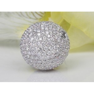 Fermoir interchangeable Diamants boule 14mm