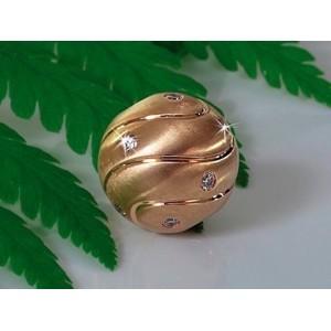 Fermoir interchangeable Diamants parsemés boule 12mm-2