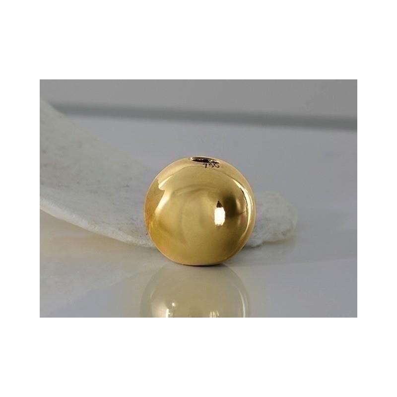 Fermoir interchangeable boule Or Jaune 10mm-1