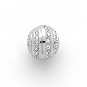 Fermoir interchangeable Diamants parsemés boule 12mm-3