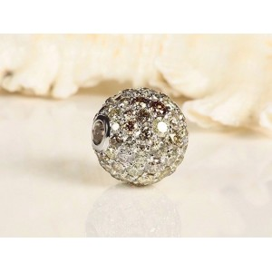 Fermoir interchangeable Diamants boule 12mm