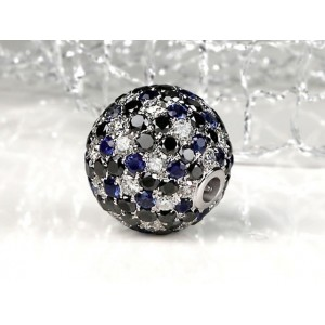 Fermoir Interchangeable MOONLIGHT Diamants noirs, blancs et saphirs