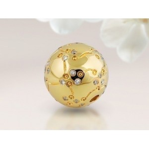 "Fermoir Interchangeable Diamants ""CENTAURUS"" boule 16mm"