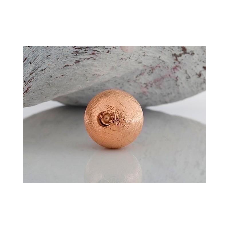 Fermoir interchangeable boule dépoli givré Or rose