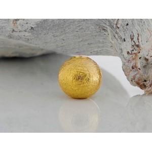 Fermoir interchangeable boule dépoli givré 10mm Or jaune