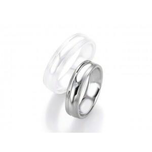 Alliance Saint Maurice Argent & Diamant 6 mm