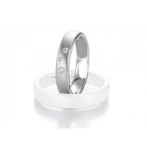 Alliance Saint Maurice Argent & Diamant 4,5mm