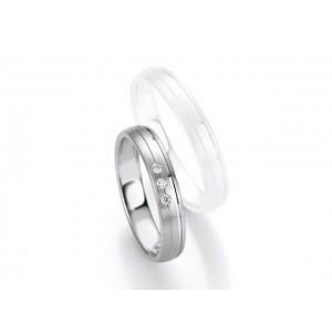 Alliance Saint Maurice Argent & Diamant 4 mm