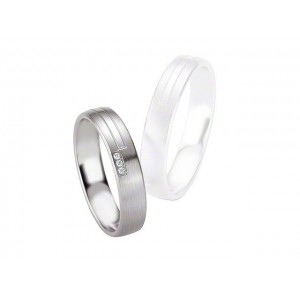 Alliance BREUNING Argent & Diamants 4,5mm-5