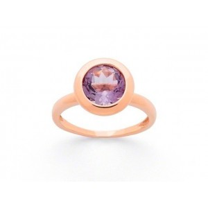 Bague Améthyste taille ronde Or rose