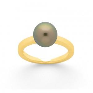 Bague Perle de Tahiti 8,8mm Or jaune