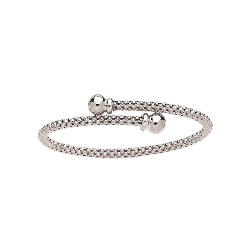 Bracelet rigide résille 4mm Or blanc