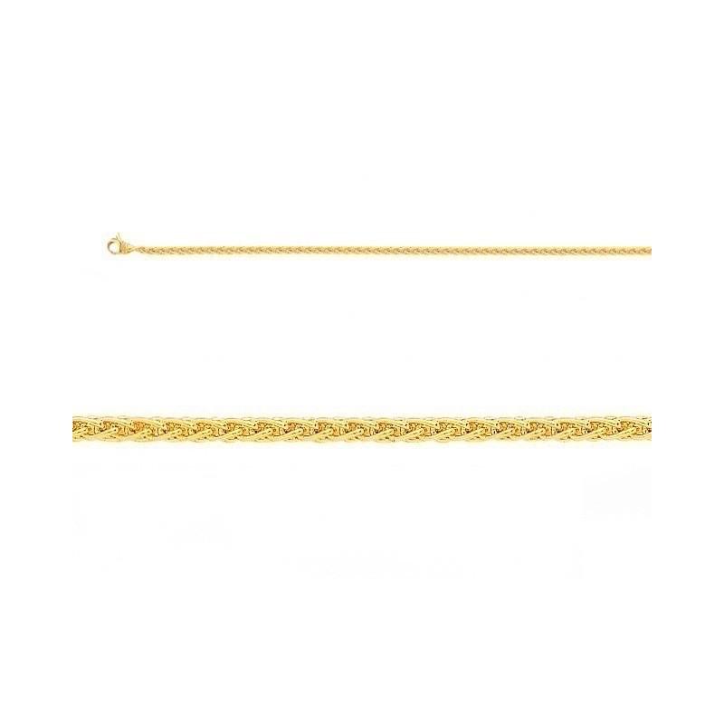 Bracelet maille palmier massif 2,4mm Or jaune