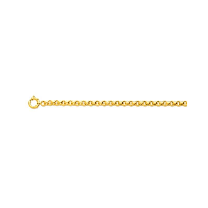 Bracelet Jaseron 7,8mm creux anneau bouée Or jaune