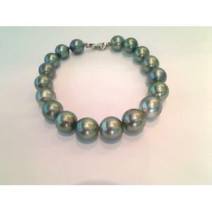 Bracelet Perles de culture de Tahiti de 9,0-9,6mm 18 Perles Or blanc